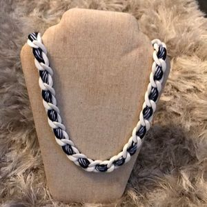 Jewelry - Navy and white necklace